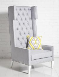 Tangier Wing Chair Gray Tweed