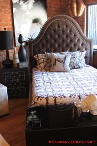 Brown Velvet Acapulco Bed