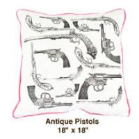 Antique Pistols White / Black / Pink