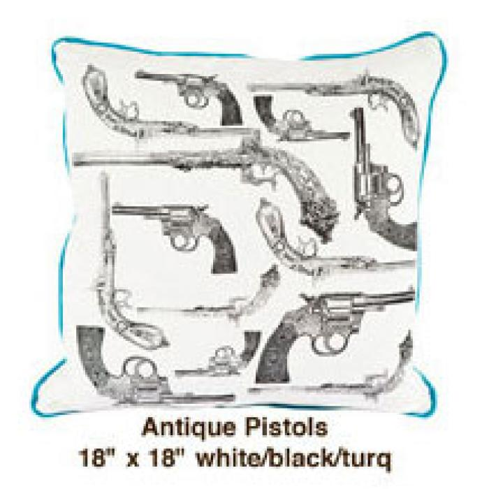 Antique Pistols White / Black / Turq