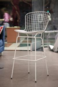 Bertioa Style Reproduction Bar Stool in White