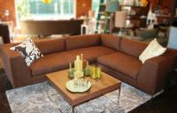 Fat Albert Sectional in Brown Textured Linen