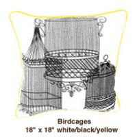 Birdcages  White / Black / Yellow