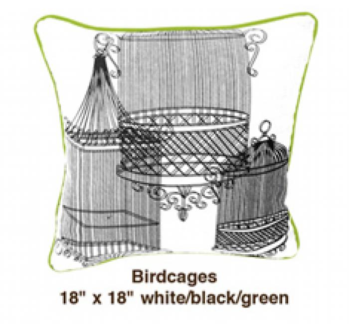 Birdcages White / Black / Green