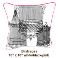 Birdcages White / Black / Pink