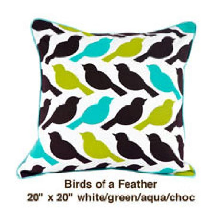 Birds of a Feather White / Green / Aqua / Choc
