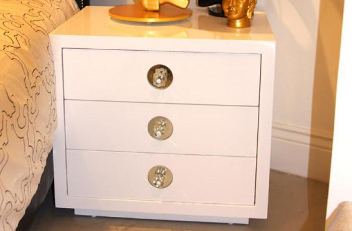 Boca 3 Drawer Side Table