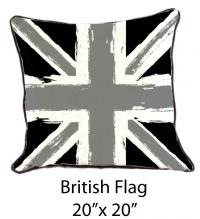 British Flag Black/Gray/White