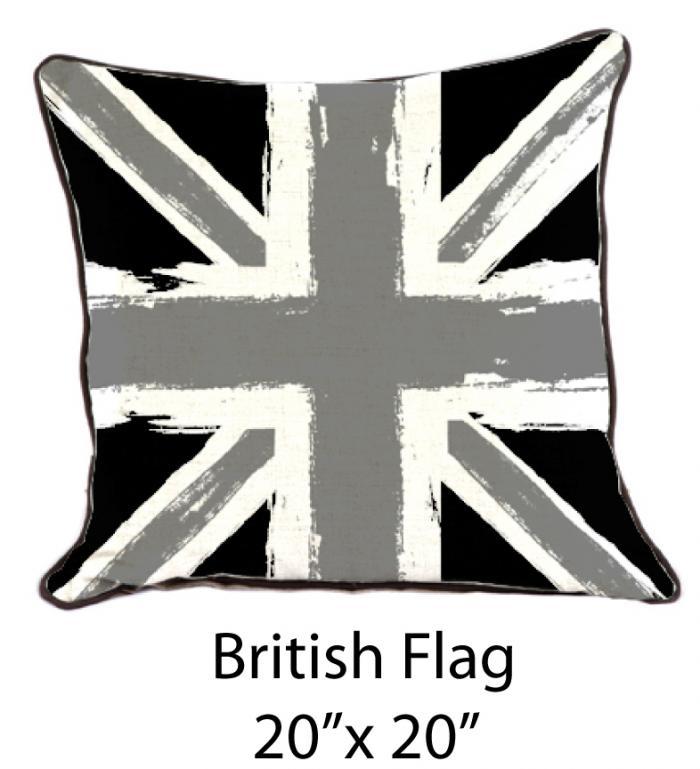 www.roomservicestore.com - British Flag Black/Gray/White