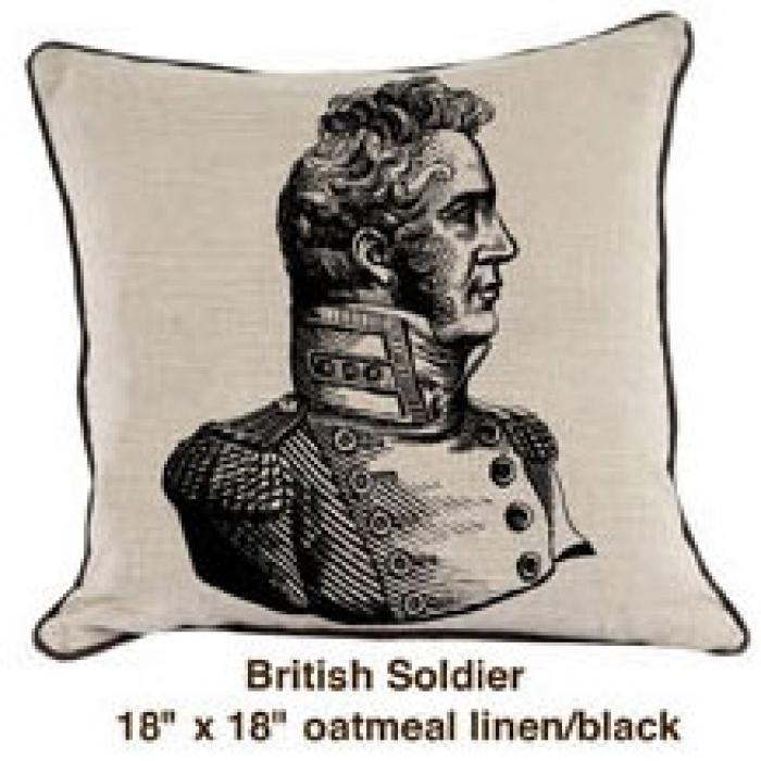 British Soldier Oatmeal Linen / Black