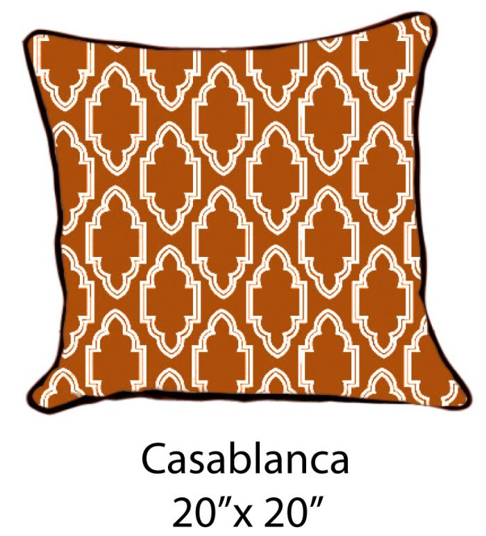 Casablanca White/Brown/Rust Orange