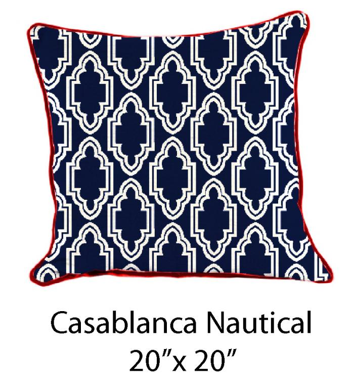 Casablanca Nautical White/Navy/Red