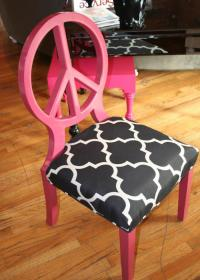 Pink Peace Chair