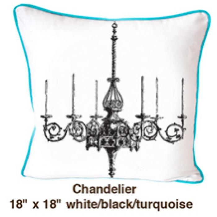 Chandelier White / Black / Turquoise