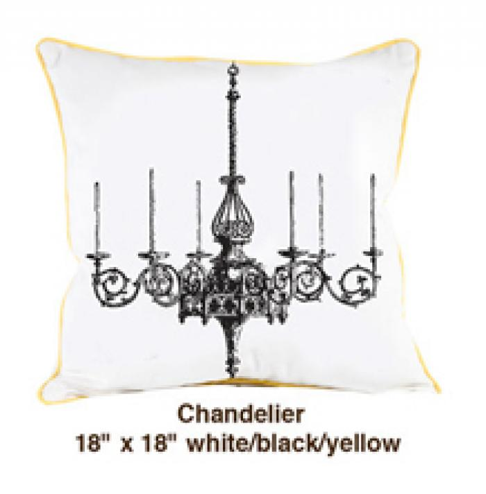 Chandelier White / Black / Yellow