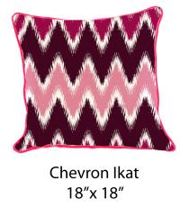 Chevron Ikat White/Pink/Burgundy/Purple