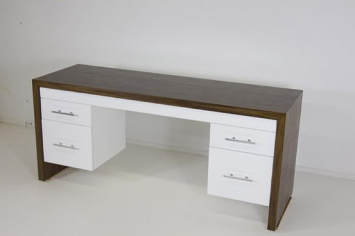 Www Roomservice Delano Desk In Dark Walnut With White Drawers