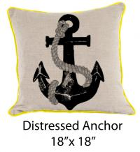 Distressed Anchor Oatmeal/Black/Yellow/Gray