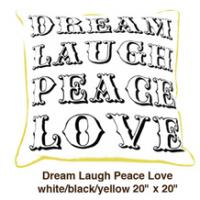 Dream Laugh Peace Love White / Black / Yellow