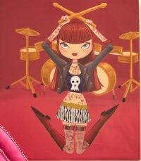 Drummer Girl Original Artwork
