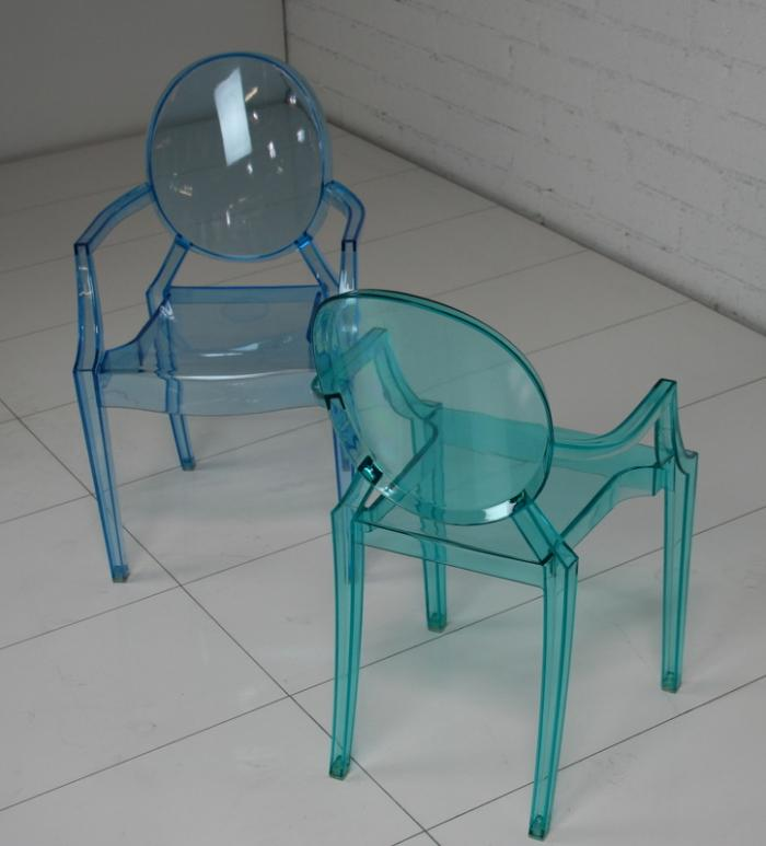 Kids acrylic Louis style chair