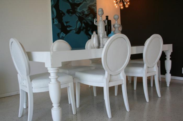 Hollywood dining table in for White dining room table