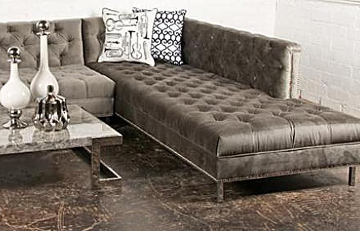 Charcoal Velvet Hollywood Sectional : velvet tufted sectional - Sectionals, Sofas & Couches