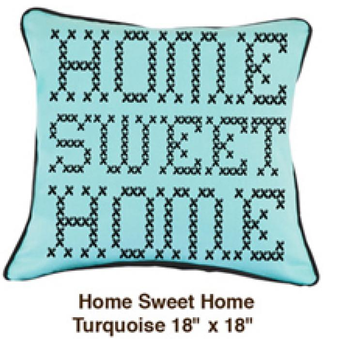 Home Sweet Home Turquoise