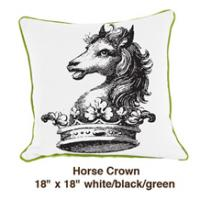 Horse Crown White / Black / Green