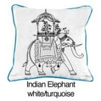 Indian Elephant White / Turquoise