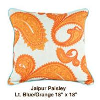 Jaipur Paisley Lt. Blue / Orange
