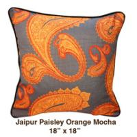 Jaipur Paisley Orange Mocha