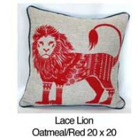 Lace Lion  Oatmeal / Red