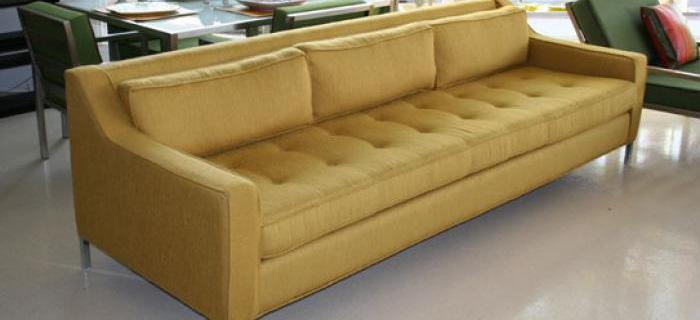 Lautner Sofa With Gold Tweed