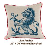 Lion Anchor Oatmeal  / Navy / Red