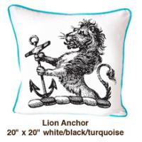Lion Anchor White / Black / Turquoise