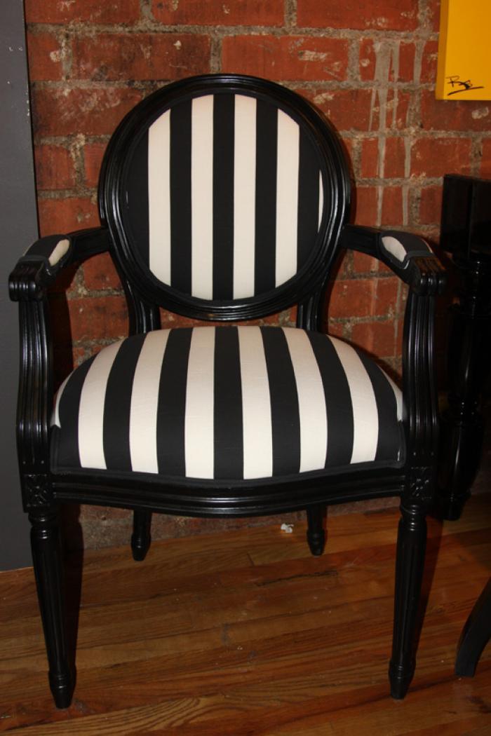 Striped Louis Armchair