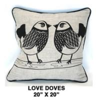 Love Doves Oatmeal / Black