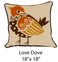 Love Dove Oatmeal/Brown/Orange/Yellow
