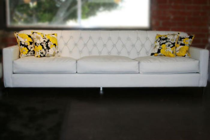 Martin Sofa In White Faux Leather