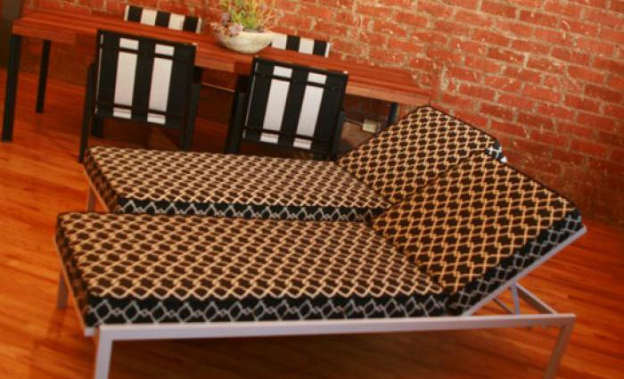 South Beach Outdoor Sunlounger with Chippendale Sunbrella Cushions