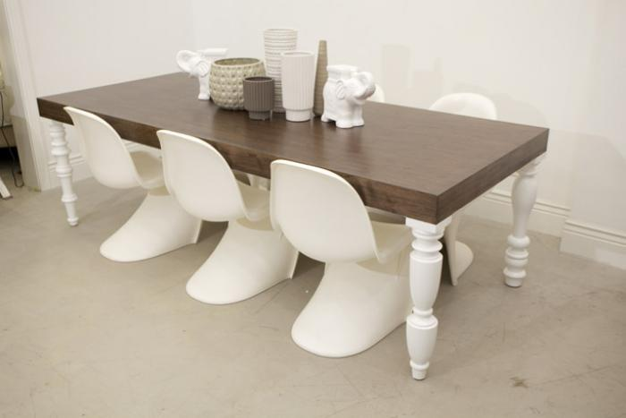 Wwwroomservicestorecom The Mixed Up WalnutWhite Dining Table - White and walnut dining table