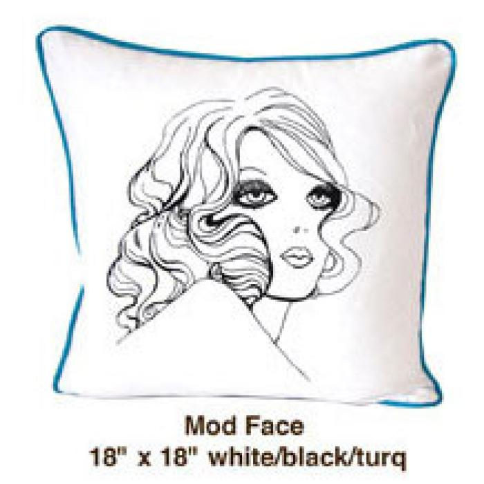 Mod Face White / Black / Turq