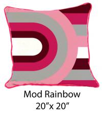 Mod Rainbow White/Pink/Burgundy/Gray