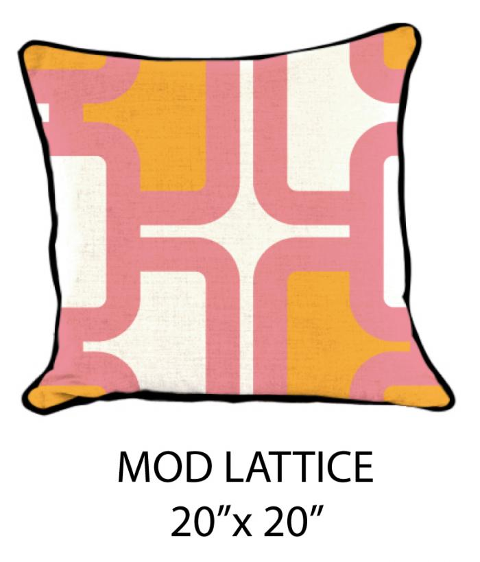 Mod Lattice White/Pink/Orange