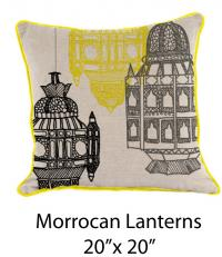 Morrocan Lantern Oatmeal/Black/Yellow/Gray