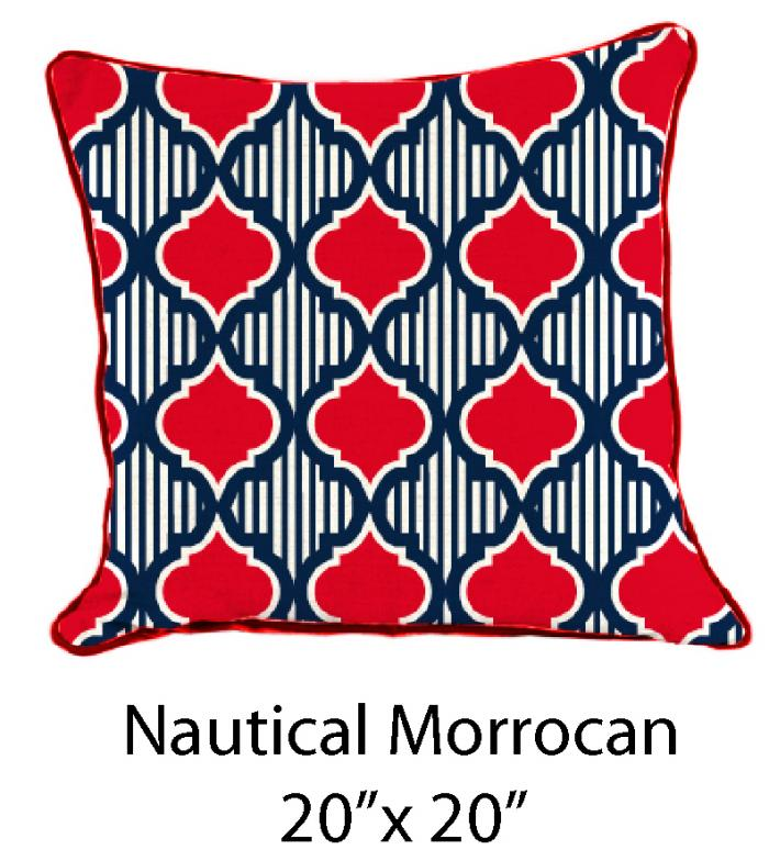 Nautical Moraccan Red/Navy/White