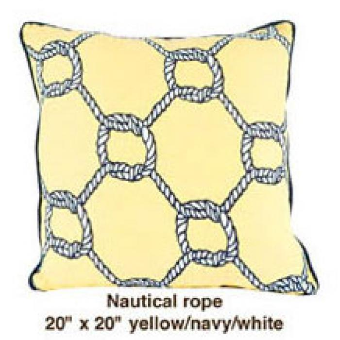 Nautical Rope Yellow / Navy / White