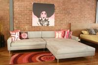 New Deep Sectional in  Dove Ultra Suede