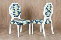 Geometric Print Octagon Dining Chair